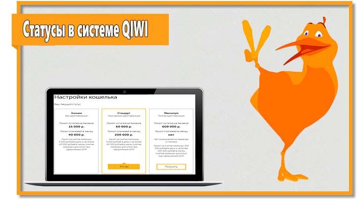 Для участников платежной системы QIWI доступно несколько статусов. Чем выше статус, тем больше возможностей у пользователя.