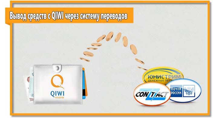 Для участников системы QIWI доступна возможность снять деньги через систему денежных переводов.
